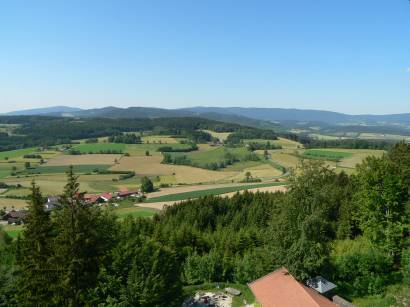 Aussichtspunkt im Landkreis Regen - Burgruine Altnussberg bei Teisnach Geiersthal