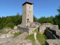 Burg im Bayerischen Wald Altnussberg Burgruinein Niederbayern