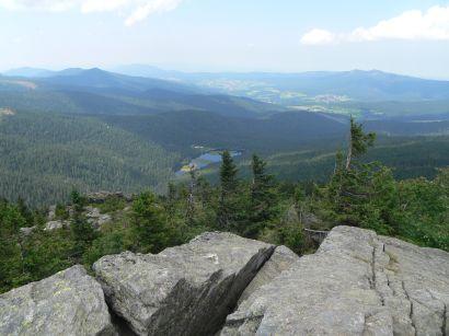 Aussichtspunkt - Blick auf den kleinen Arbersee