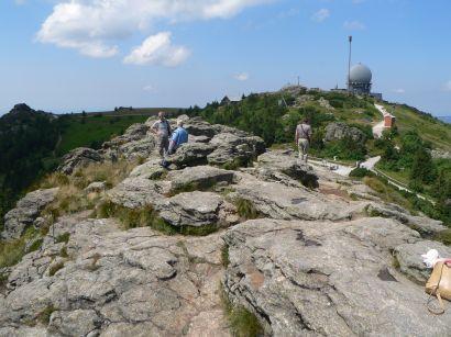 Radarstationen am Gipfel vom Bayerwald König Arber