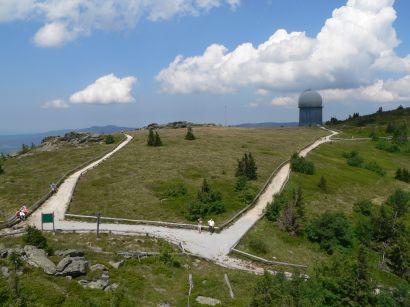 Großer Arber Berggipfel Bergwandern am Rundwanderweg