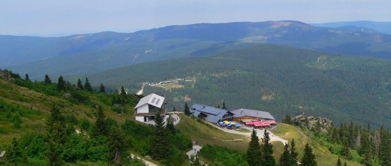 Großer Arber - Aussichtspunkt am Gipfel - Rundwanderweg mit Panorama