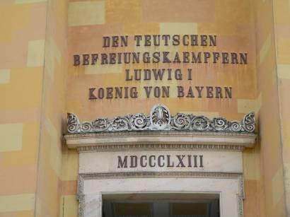 befreiungshalle-kelheim-inschrift-ludwig-könig-bayern
