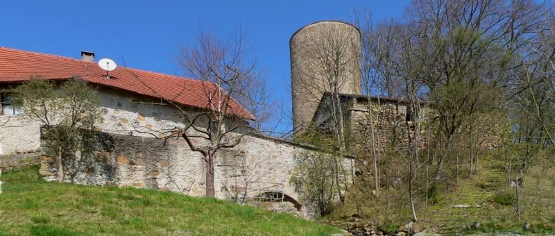 Burgruine Thanstein im Oberpfälzer Wald im Landkreis Schwandorf
