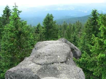 Dreisessel Berg Bayerischer Wald Dreisesselberg wandern am Dreisesselfelsen
