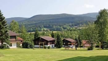 Ferienpark mit Ferienhäuser in Süddeutschland im Bayerischen Wald