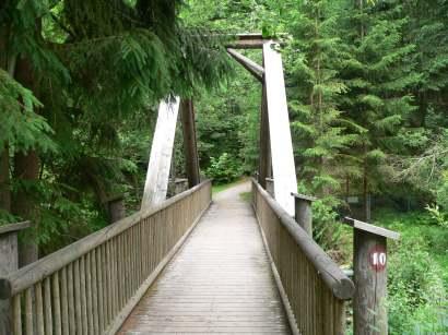 Rundwanderweg mit 5,5 km Länge um die Talsperre Frauenau - Bild und Foto Impressionen