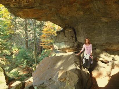 Wandern am Kaitersberg im Bayerischen Wald mit Räuber Heigl Höhle
