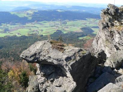Kaitersberg Kötzting Ausblick vom Kreuzfelsen