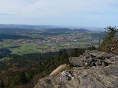Ausblick vom Kaitersberg auf Bad Kötzting