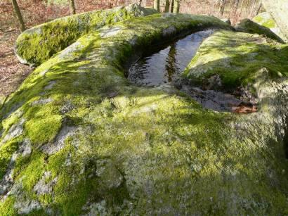 Druidenstein bei Neunburg vorm Wald - opfersteine-rinne-granit