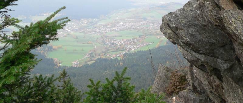 Aussichtsberg Osser Lam im Bayerischen Wald