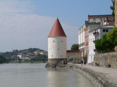 Schaiblingsturm Passau - Bild ID: passau-schaiblingsturm-bollwerk-fluss-pulverturm