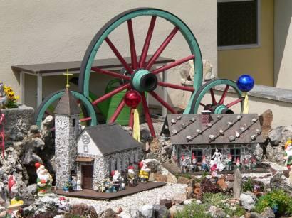 Miniatur Stadt Philippsreut in einem Vorgarten