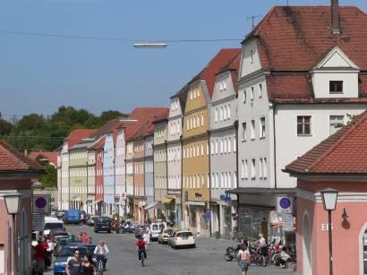Regensburg Bauwerke Häuserfront Stadtteil: Stadt am Hof