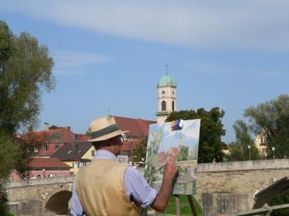 regensburg-weltkulturerbe-sehenswertes-maler-kunst-steinerne-brücke