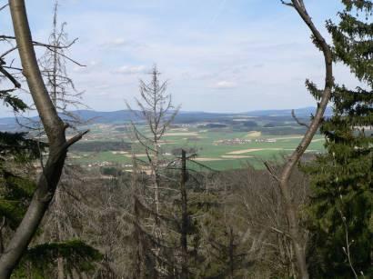 Rötz Schwarzenburg Schwarzwihrberg Steinerne Wand - Aussicht zum Signalberg