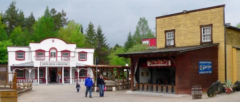 Westernstadt in Bayern Westerntown Wilden Westen Stuntshow