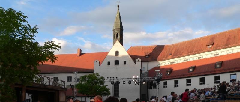 Herzogschloss in Straubing in Niederbayern