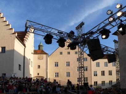 Torturm Herzogschloss Straubing Niederbayern Historische Bauwerk Bayern