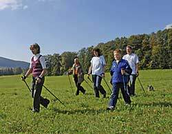 Wanderpension in Bayern nordicwalking urlaub