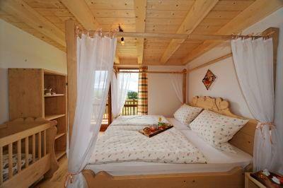 Himmelbett für Verliebte im Ferienhaus Bayern