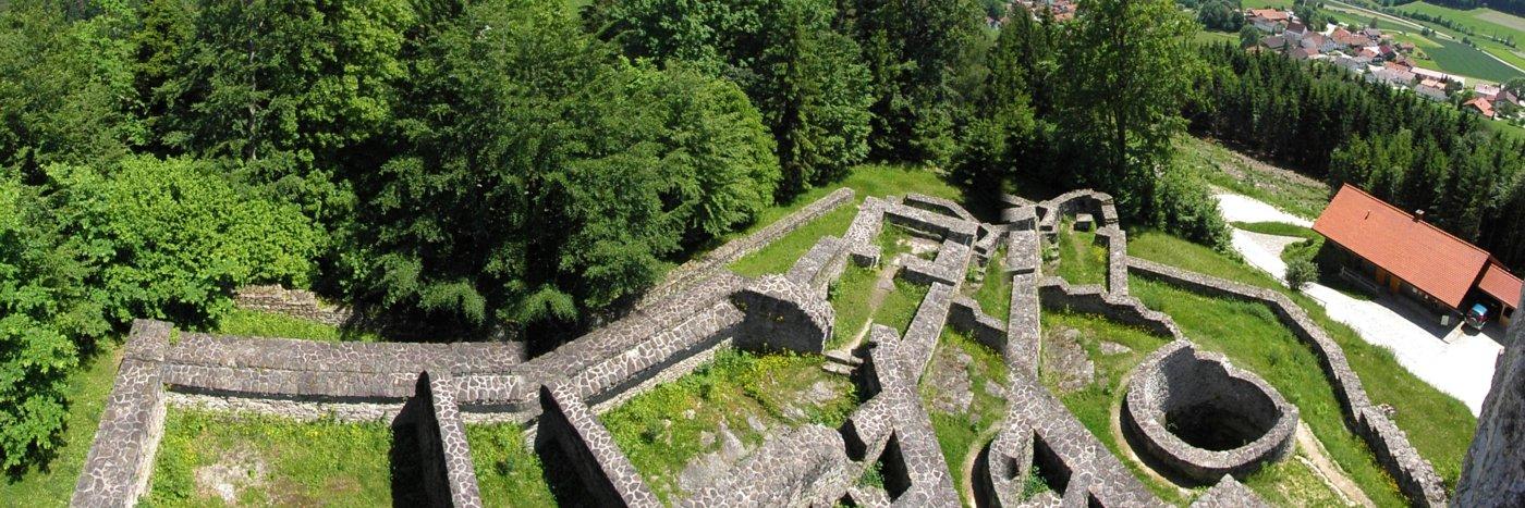 Burgruine Altnussberg im Geiersthal Burg bei Teisnach im Landkreis Regen