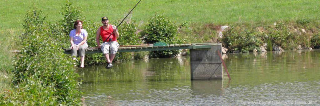 Fischen am Fluß oder am See Angelurlaub im Bayerischen Wald