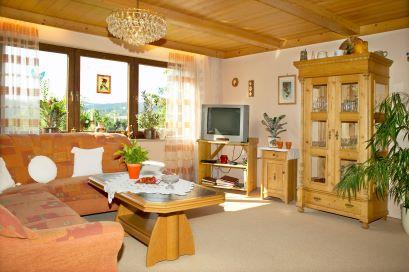 Wohnzimmer der Ferienwohnung in Furth im Wald Grenzstadt