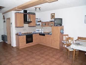 Wohnküche der Ferienwohnung bei Hirschau