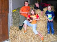 Kinder und Familien Bauernhof in Deutschland im Bayerwald