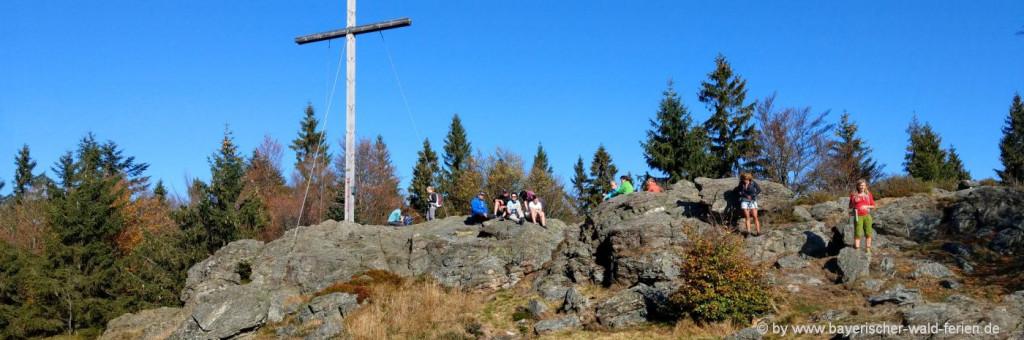 Bayerischer Wald Ferienhütten am Berggipfel in Bayern