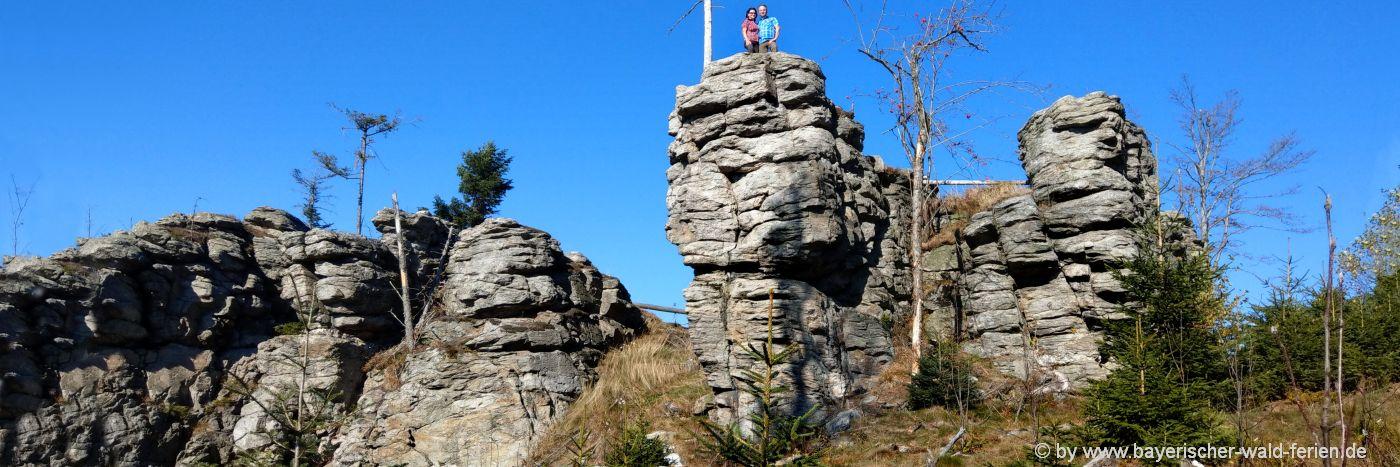 Aktivurlaub und Camping im Bayerischen Wald - Wandern zum Ödriegel