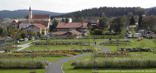 bischofsmais-ausflugsziele-sehenswuerdigkeiten-bayerischer-wald-ortsansicht-kurpark