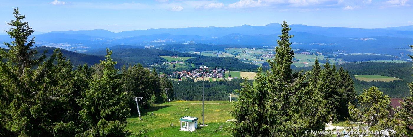 sehenswürdigkeiten in bischofsmais-geisskopf-aussichtspunkt-bergwandern