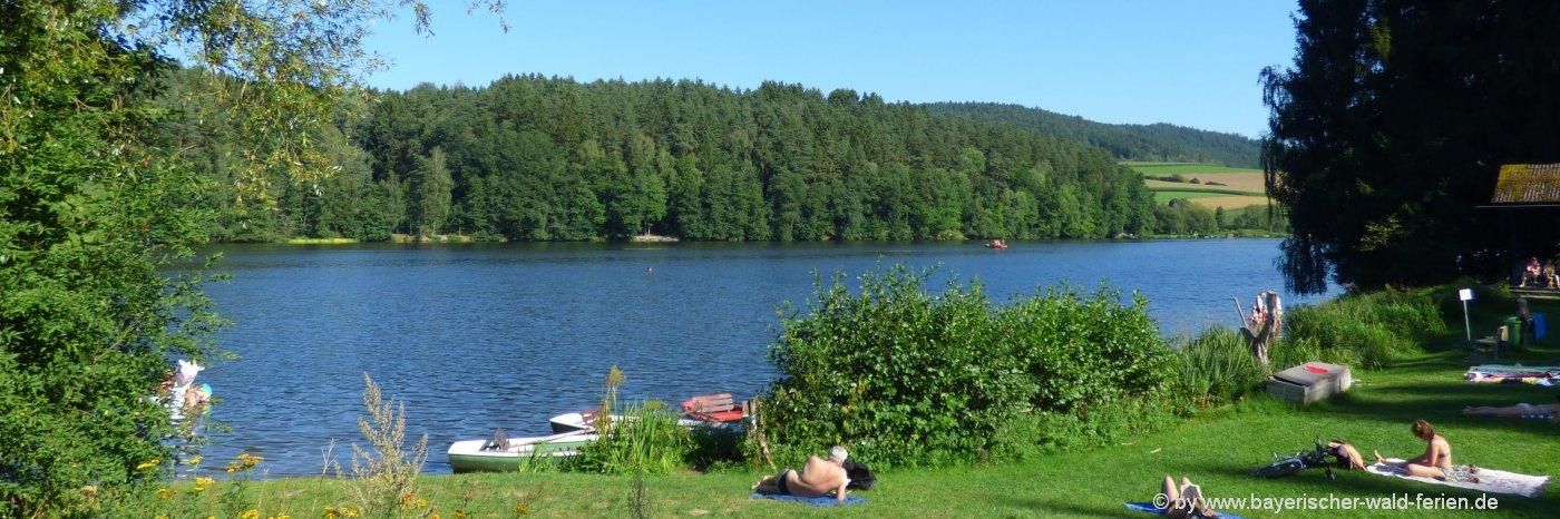 Sehenswürdigkeiten in Blaibach Ausflugsziele Badeseen Bayerischer Wald
