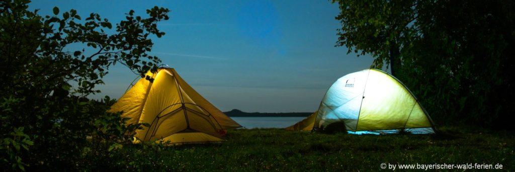 Camping am See im Bayerischen Wald Naturcamping