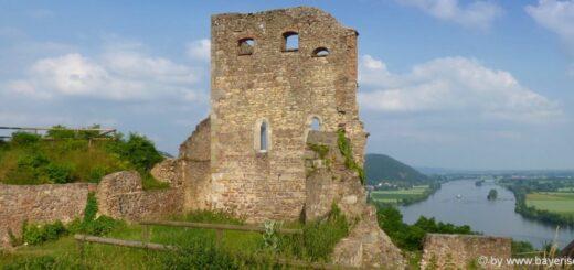 Sehenswürdigkeiten Donaustauf Ausflugsziel Burgruine Aussichtspunkt