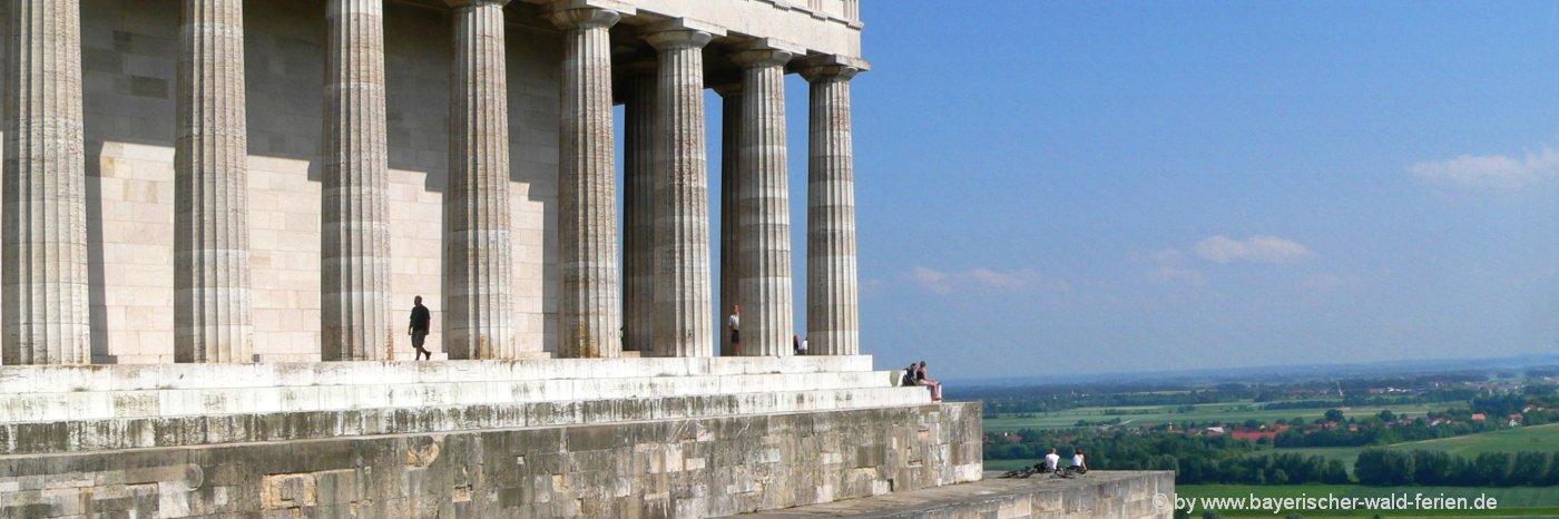 Walhalla in Donaustauf Regensburg  Sehenswürdigkeiten Aussichtspunkt