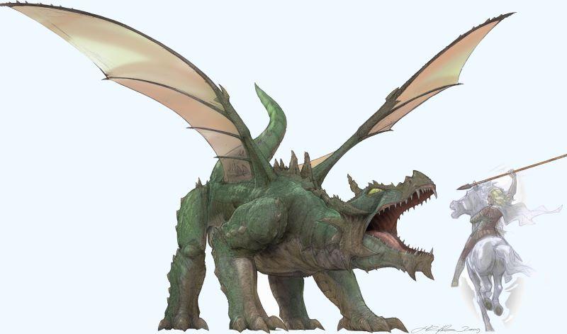 Neuer Drache Furth im Wald Monster aus dem Mittelalter