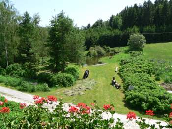 Ferienwohnung für Kurzurlaub Niederbayern - Ausblick vom Balkon