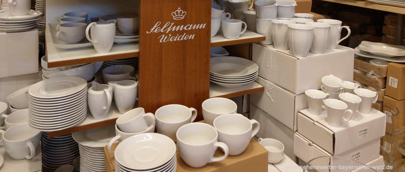 Fabrikverkauf Porzellanstrasse in Bayern Seltmann / Hutschenreuther in Selb