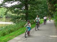 Fahrradfahren Bayerischer Wald Urlaub Radweg am See