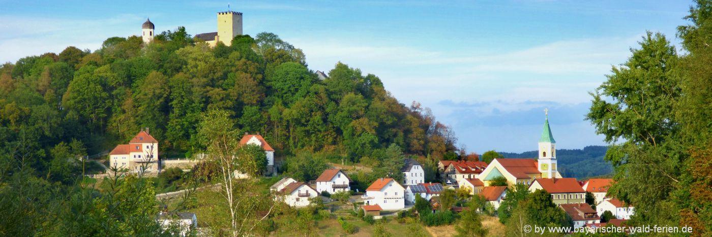 Ausflugsziele in Falkenstein Unterkunft & sehenswürdigkeiten Oberpfalz Burg