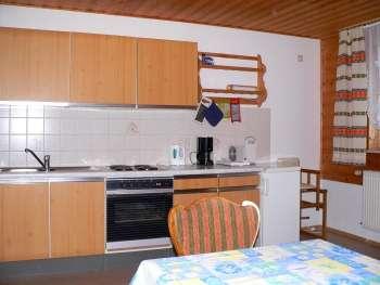 Küche der ferienwohnung am Bauernhof Koller Schillertswiesen