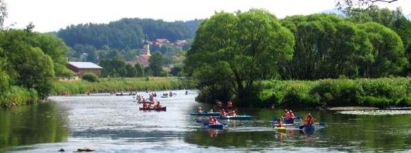 Kanutouren in Bayern - Bootswandern am Regen im Bayerischen Wald