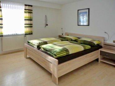 Schlafzimmer der Ferienwohnung in Prackenbach