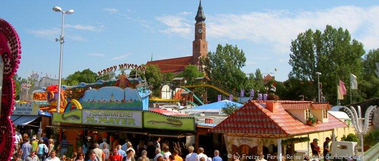 Volksfest in Sttraubing Sehenswürdigkeiten in Niederbayern