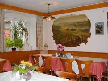 Gastzimmer im Speiserestaurant