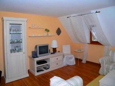 Wohnzimmer - Fremdenzimmer buchen zum Urlaub in Bayern